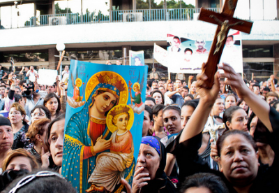 Christians-protest-at-Maspero