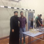 Organising Committee Member Botrous with SAYC Founder Fr Pavlos Hanna