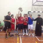St Abanoub raise the trophy