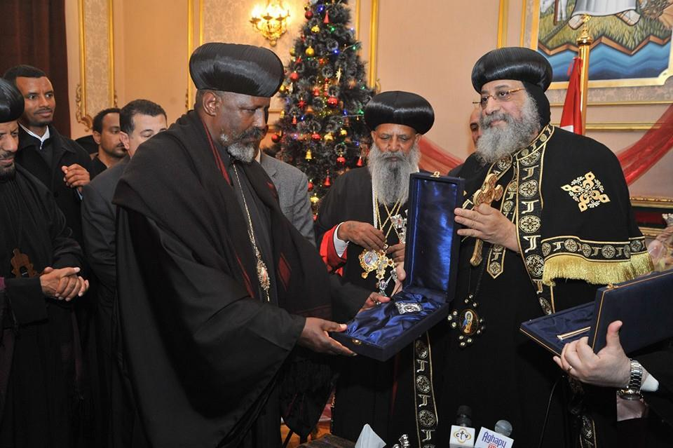 Pope Tawadros with Ethiopian pope