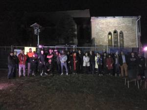 15 May - vigil outside Sydenham church on Tuesday night.