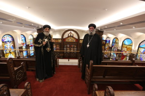 Pope Tawadros II (left) and Bishop Suriel (1)