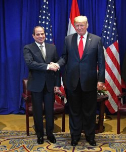 Sisi meets Trump photo 2018