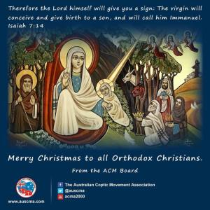ACM Coptic Christmas message